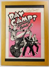 Autographed Ray Campi  1977 Tour Poster (Art By Micael Priest)